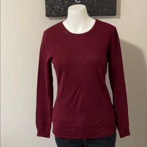 Charter Club 100% Cashmere Maroon Sweater